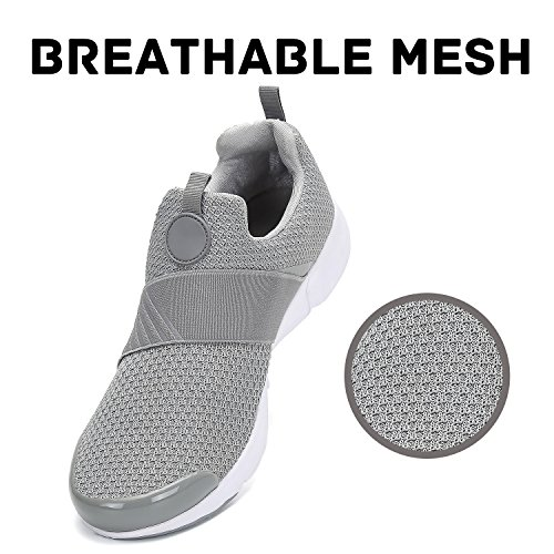 Men Women Breathable Shoes Mesh Comfortable Slip Running Sneakers Walking Mishansha Lightweight Gray Soft Fashion On UBHFfqqw