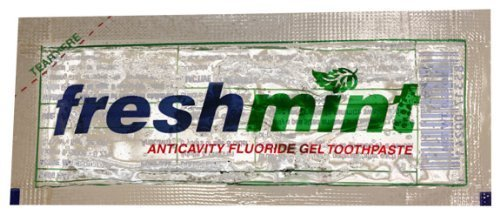 Freshmint Single Use Clear Gel Toothpaste Packets, 144 Pack