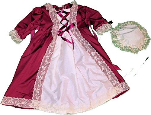 Historical DAR Girls 6 7 8 10 12 Colonial America Dress Gown Felicity Elizabeth American Elsa Anna Disney (Handmade Girls Colonial Costumes)