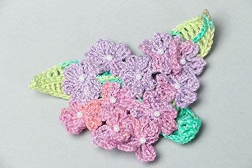 Crochet Flower Brooch - 5
