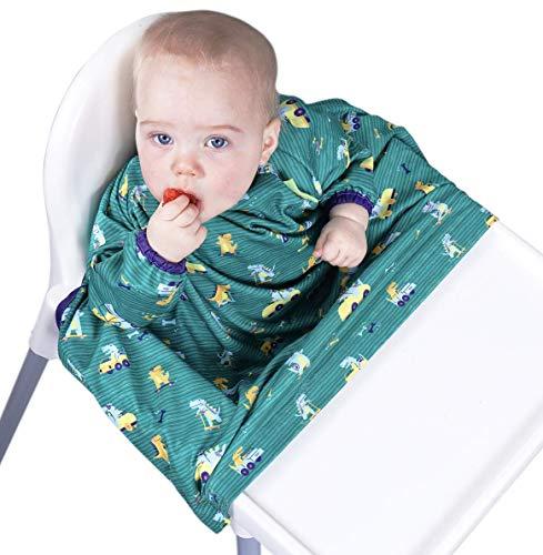 Slab voor spenen – BIBaDO – de bekroonde overall, hecht aan uw kinderstoel, ideaal voor BLW puinhoop, lange mouwen…