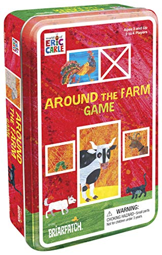 Briarpatch Around The Farm Memory Match Game Tin Part of The World of Eric Carle Author of The Very Hungry Caterpillar