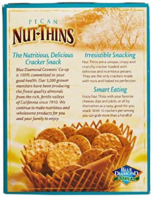 Blue Diamond Pecan Nut-Thins Cracker Crisps, 4.25 Ounce