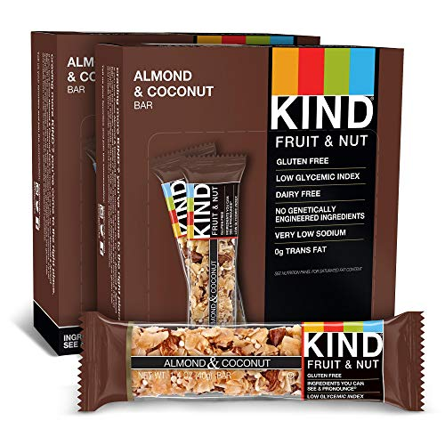 KIND Bars, Almond & Coconut, Gluten Free, 1.4 Ounce Bars, 24 Count (Packaging May Vary)