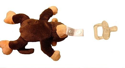 Amazon.com: Animal de peluche – Chupete de silicona, sin BPA ...