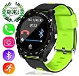YAKOO Smart Watch for Men - Touch Screen Digital Sport Wrist Watch with SIM TF Card Slot Pedometer Sleep Monitor Camera Outdoor Smartwatch Tracker for Women Fathers Day Gifts, Green