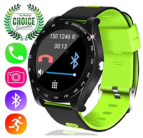 YAKOO Smart Watch for Men - Touch Screen Digital Sport Wrist Watch with SIM TF Card Slot Pedometer Sleep Monitor Camera Outdoor Smartwatch Tracker for Women Fathers Day Gifts, Green by YAKOO