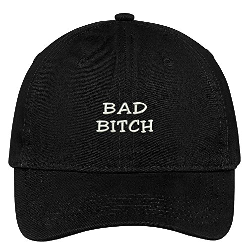 Trendy Apparel Shop Bad Bitch Embroidered 100% Quality Brushed Cotton Baseball Cap - ()