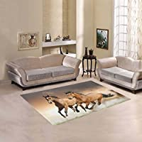 Happy More Custom Horse Area Rug Cover Indoor/Outdoor Decorative Floor Rug 7x5