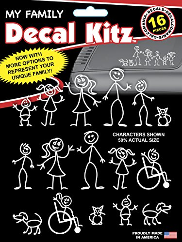 Chroma 5309 Stick People Decal Kit, 16 piece (Stick Figure Window Decals)