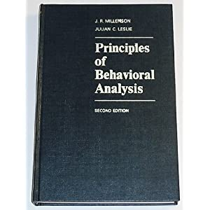 Principles of Behavioral Analysis
