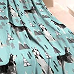 Unicorns Farting Siberian Husky Dog and Mountains Summer Thick Blanket Cozy Couch Warm Throw Blanket Flannel Fleece Blanket, 59 X 79 Inch 8