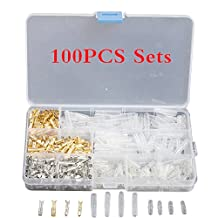 Hidream®100 Sets 3.9mm Motorcycle Brass Bullet Connectors Male&Female Wire Terminals YG