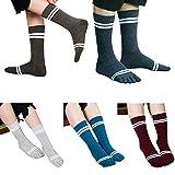 Toe Socks Cotton Crew Five Finger Socks Running Athletic for Men Women 5 Pack For Sale