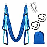 Aerial Yoga Swing Kit, Slimerence, Decompression Antigravity Yoga Hammock, Sling Hammock with 2 Daisy Chain Adjustable Straps, Trapeze Aerial Yoga Prop