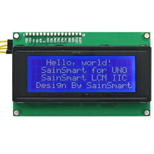 (SainSmart LCD Module For Arduino 20 X 4, PCB Board, White On Blue)