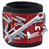 Tools & Hardware : Vastar Magnetic Wristband With 5 Powerful Magnets for Holding Screws, Nails, Bolts, Drill Bits, Fasteners, Scissors, and Other Small Tools