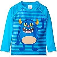 Camiseta Surfista Monstros Bebê, TipTop, Azul Claro, 6 A 12 meses