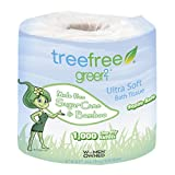 Green2 100% Tree Free 1000-Sheet 1-Ply Bathroom Tissue, 96 Count
