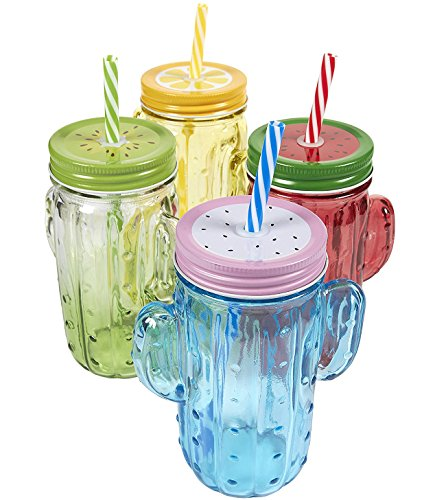 plastic colored jars - 4