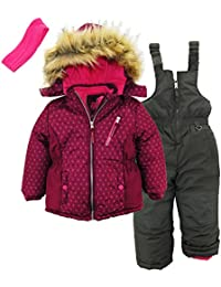 3-Piece Snowsuit for Girls & Toddlers – Geo Print Jacket
