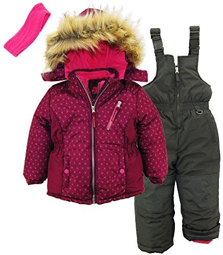 Pink Platinum 3-Piece Snowsuit for Girls & Toddlers – Geo Print Jacket by Pink Platinum