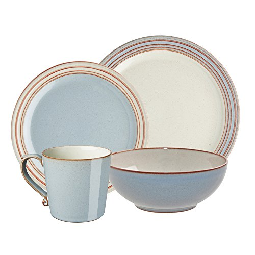 Denby USA Heritage 4 piece Terrace Place Setting Dinnerware Set, Multicolor (Denby Dinnerware Bowls)