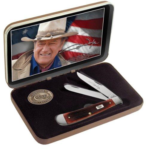 Case Dark Red John Wyne Trapper Pocket Knife Gift Set