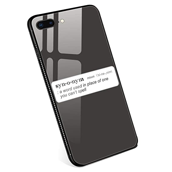 Amazon com: iPhone 8 Plus Cases,Synonym Definition Tempered Glass