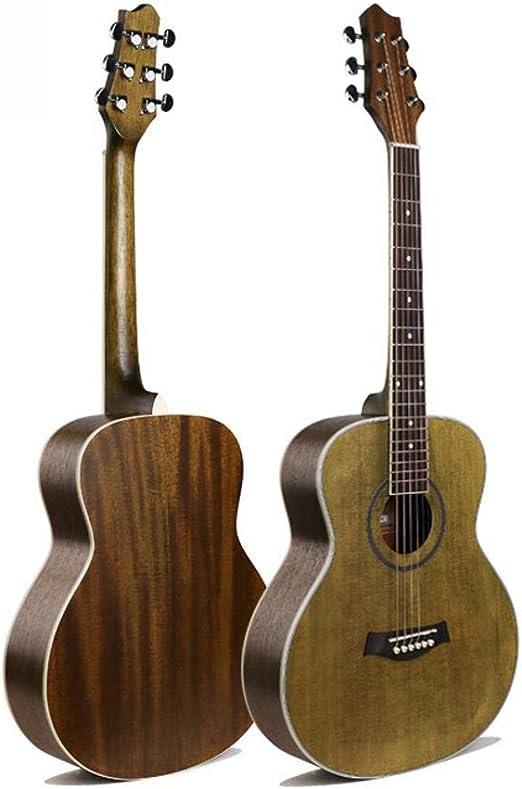 Hjyi Guitarra Acústica Guitarra Acústica de Viaje Retro ...