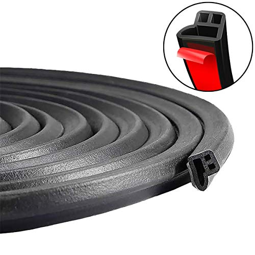 PAPILLON 33Feet Long Car Door Seal,Universal Soundproof Weatherstrip Draft Rubber Strip Seal for Automotive Doors Window Engine Cover Sunroofs Wind Noise Reduction(L-Shape, 10M)