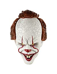 AIYANG Stephen King's It Mask Pennywise Horror Clown Joker Mask Clown Mask Halloween Cosplay Costume Props