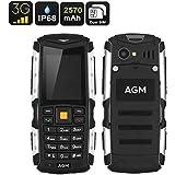 AGM M1 Telefono Cellulare 3G, Resistente All'Acqua IP68, Antiurto, Antipolvere, DUAL SIM (Compatibile con Tutti Gli Operatori Telefonici)