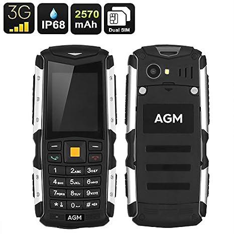 Agm M1 Telefono Cellulare 3g Resistente Allacqua Ip68 Antiurto Antipolvere Dual Sim Compatibile Con Tutti Gli Operatori Telefonici