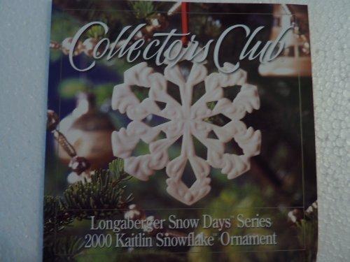 (Longaberger Collectors Club Snow Days 2000 Ornament)
