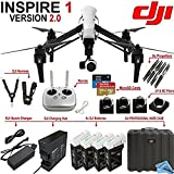 DJI Inspire 1 Version 2.0 w/ eDigitalUSA Premium Package: Includes Remote, 3 Spare TB48 Batteries, Charging Hub, DJI Professional Hard Case and more...