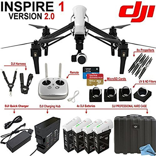 DJI-Inspire-1-Version-20-w-eDigitalUSA-Premium-Package-Includes-Remote-3-Spare-TB48-Batteries-Charging-Hub-DJI-Professional-Hard-Case-and-more