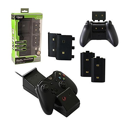 Commart Xbox One Dual Charging Dock Charger + 2 Rechargeable Batteries KMD Ship From USA