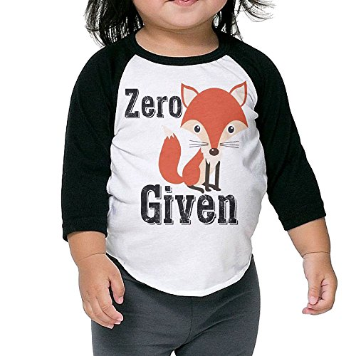 Saroyan Zero Fox Given Kids Raglan T-Shirts Baseball Tee 3/4 Sleeve 5-6 (Tegan And Sara Halloween T Shirt)