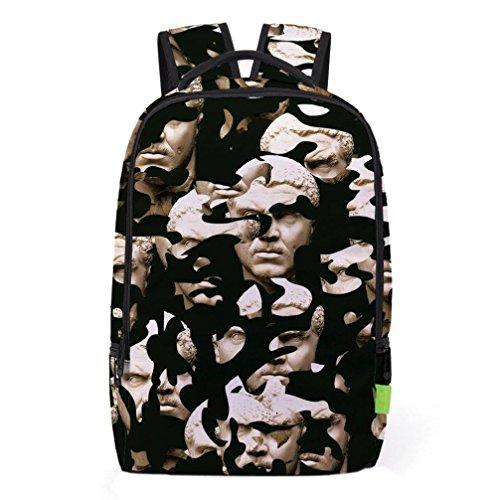 2017 Morwind Las mujeres de los hombres 3D Galaxy Viaje mochila mochila hombro bolsa Bookbag School Bag(A) (E) C