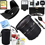 Sigma (202306) 10-20mm F3.5 EX DC HSM Lens for Nikon AF + 64GB Ultimate Filter & Flash Photography Bundle
