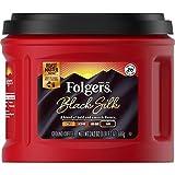 Folgers Black Silk, Dark Roast Ground Coffee, 24.2 Ounce, Packaging May Vary