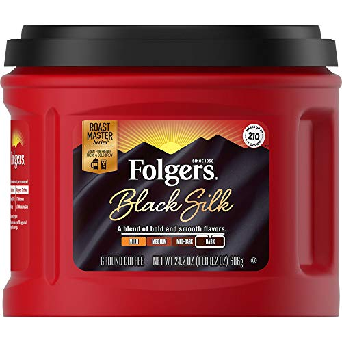 Folgers Black Silk Ground Coffee, 24.2 Ounce, Packaging May Vary (Best Store Brand Coffee)