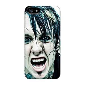 Shock Absorbent Hard Phone Cases For Iphone 5/5s With Unique Design Fashion Papa Roach Skin SherriFakhry