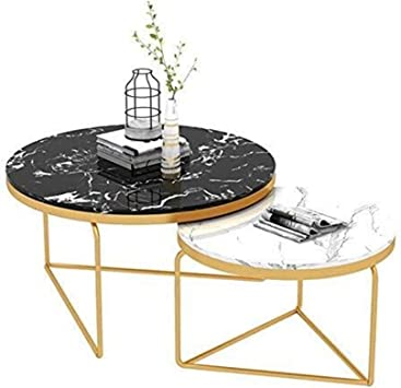 Amazon Com Njyt Extending Coffee Table End Tables Marble Top