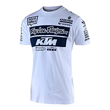 Troy Lee Designs KTM Team - Camiseta para adulto XL blanco: Amazon ...