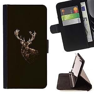 Dragon Case- Mappen-Kasten-Prima caja de la PU billetera de cuero con ranuras para tarjetas, efectivo Compartimiento desmontable y correa para la mu?eca FOR Apple iPhone 4 4S 4G- Deer Cute