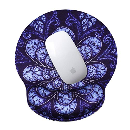 Mouse Wrist Rest Pad, Comfortable Mousepad with Wrist Rest Support for Computer - Easy Moving Palm Pad to Reduce Wrist Pain - Durable Mouse Wrist Pad for Office Work & Home Gaming, Peacock Flower
