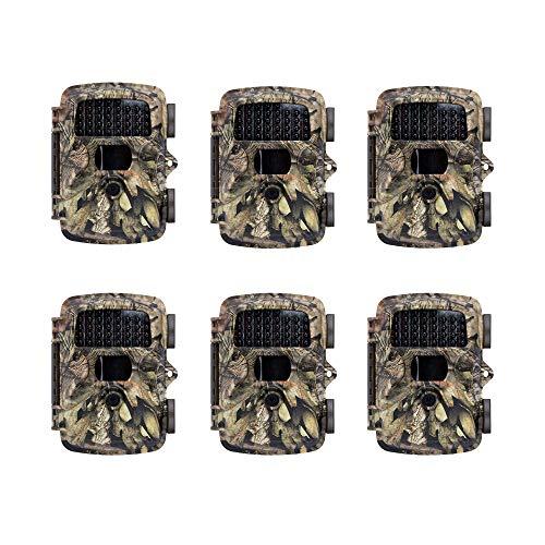 Covert MP8 Black Wireless Trail Game Wildlife Deer Hunting Camera, Mossy Oak (6 Pack)