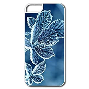 Cartoon Protective Frost Leaves Winter Nature Climate Season Case For Iphone 4/4S Cover For Friend